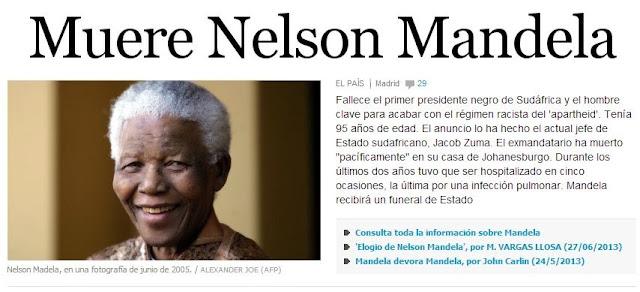 Zuma anuncia el deceso de Nelson Mandela