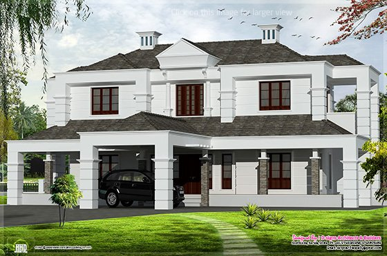 Exterior design of house