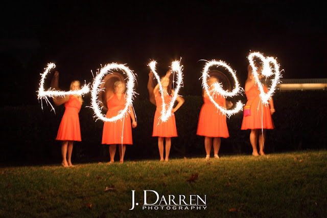 writing words with sparklers at a Bermuda Run Counrty Club Wedding in Bermuda Run North Carolina