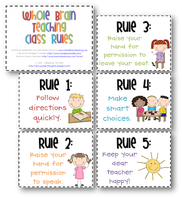 Smart image inside classroom rules printable