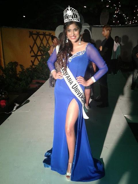 Miss Guyana Universe 2013 winner Katherina Roshana