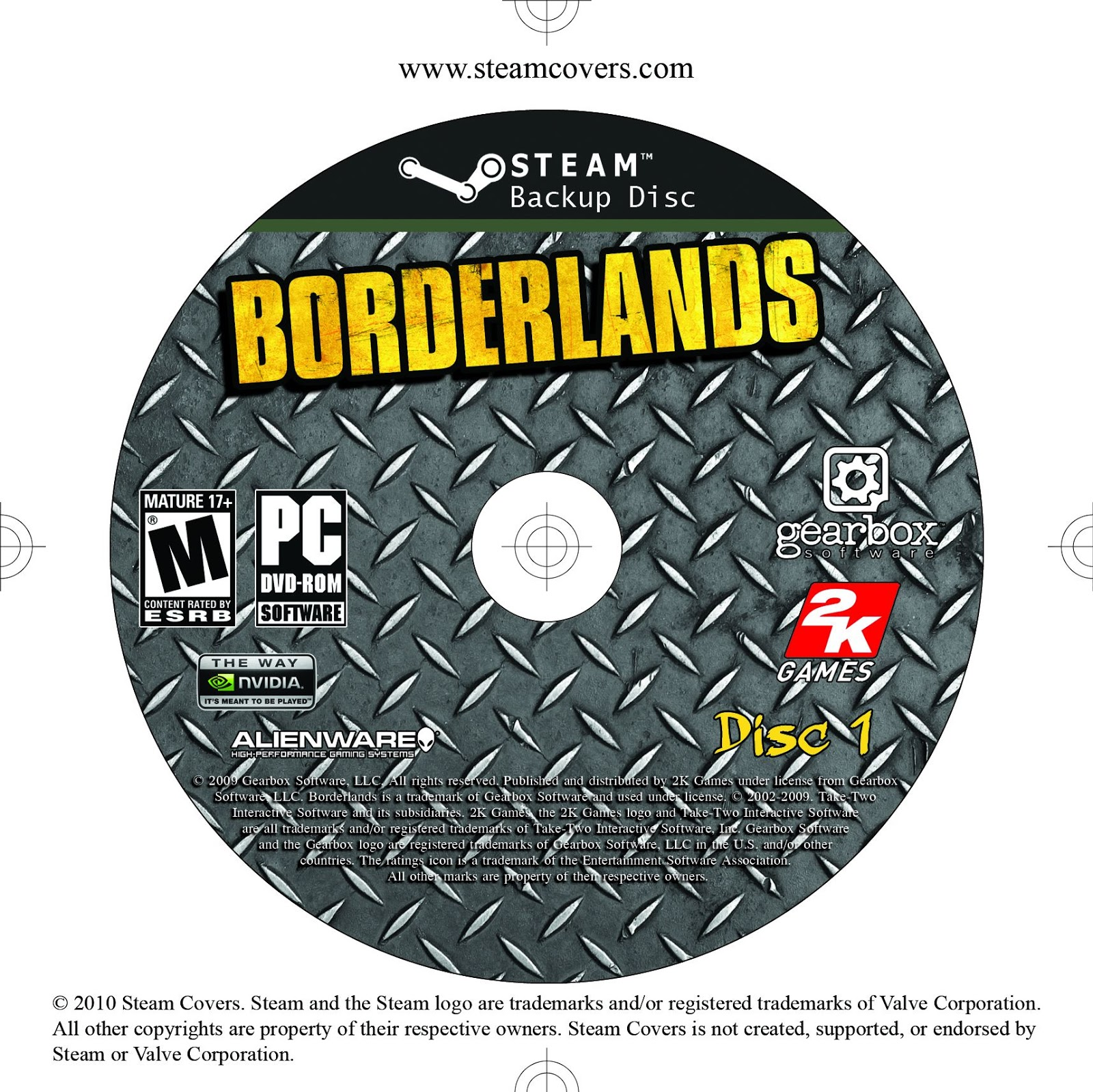 Label Borderlands Disc 1 PC