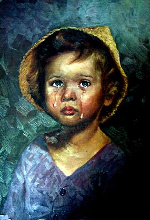 the crying boy giovanni bragolin
