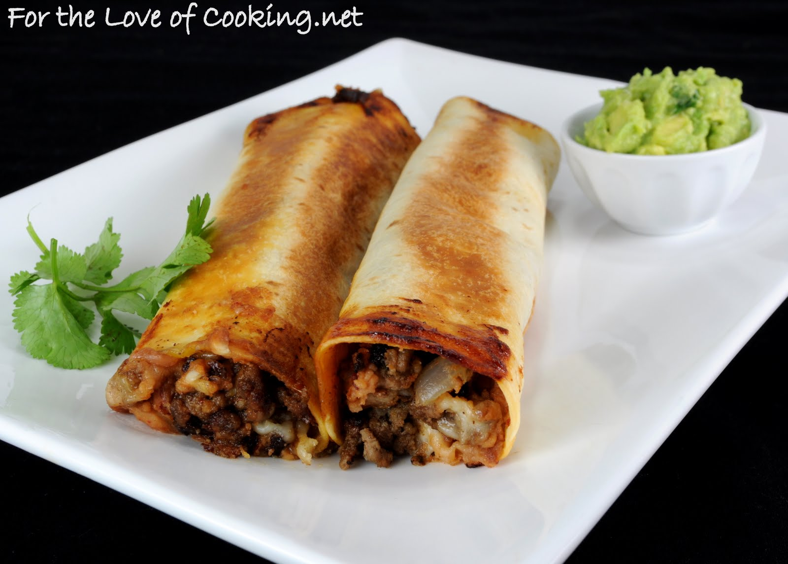 Beef, Bean, and Pepper Jack Baked Flautas | For the Love of Cooking