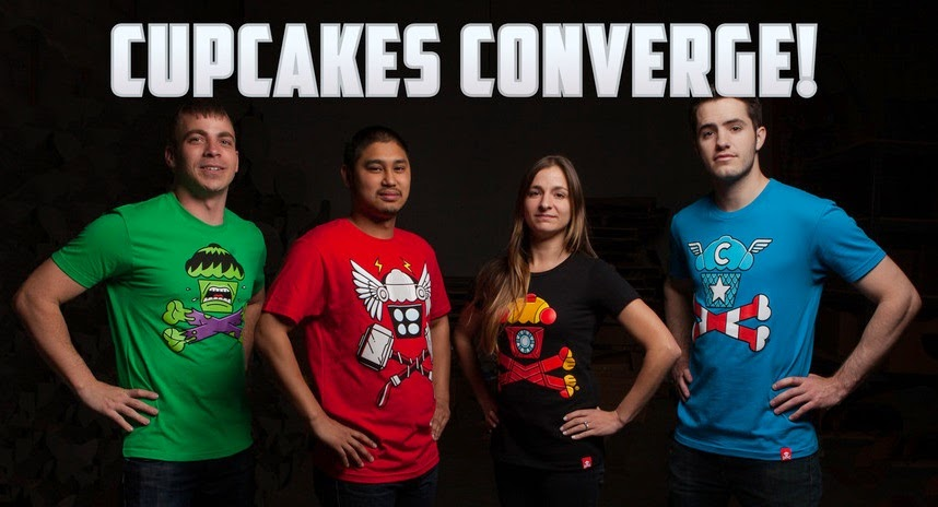 "The ""Cupcakes Converge!"" Avengers Age of Ultron Crossbones T-Shirt Collection by Johnny Cupcakes"