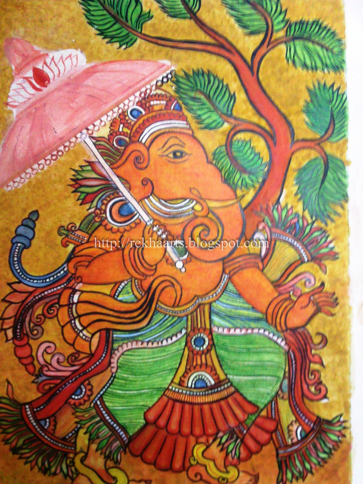 Arts and crafts july 2011 for Mural art of ganesha