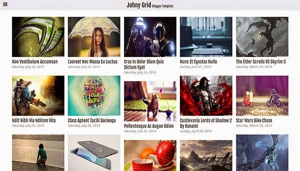 Johny Grid Responsive Blogger Template