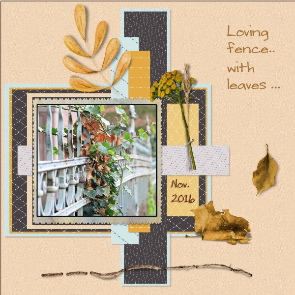 Nov.2016 - lo 1 - Leaves on a fence...