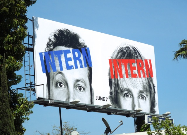 Internship movie billboard