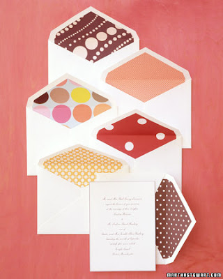 polka dot envelope liners ~ envelope liner how-to