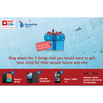 Santa Child 1001 gifts hdfc life blogger activity