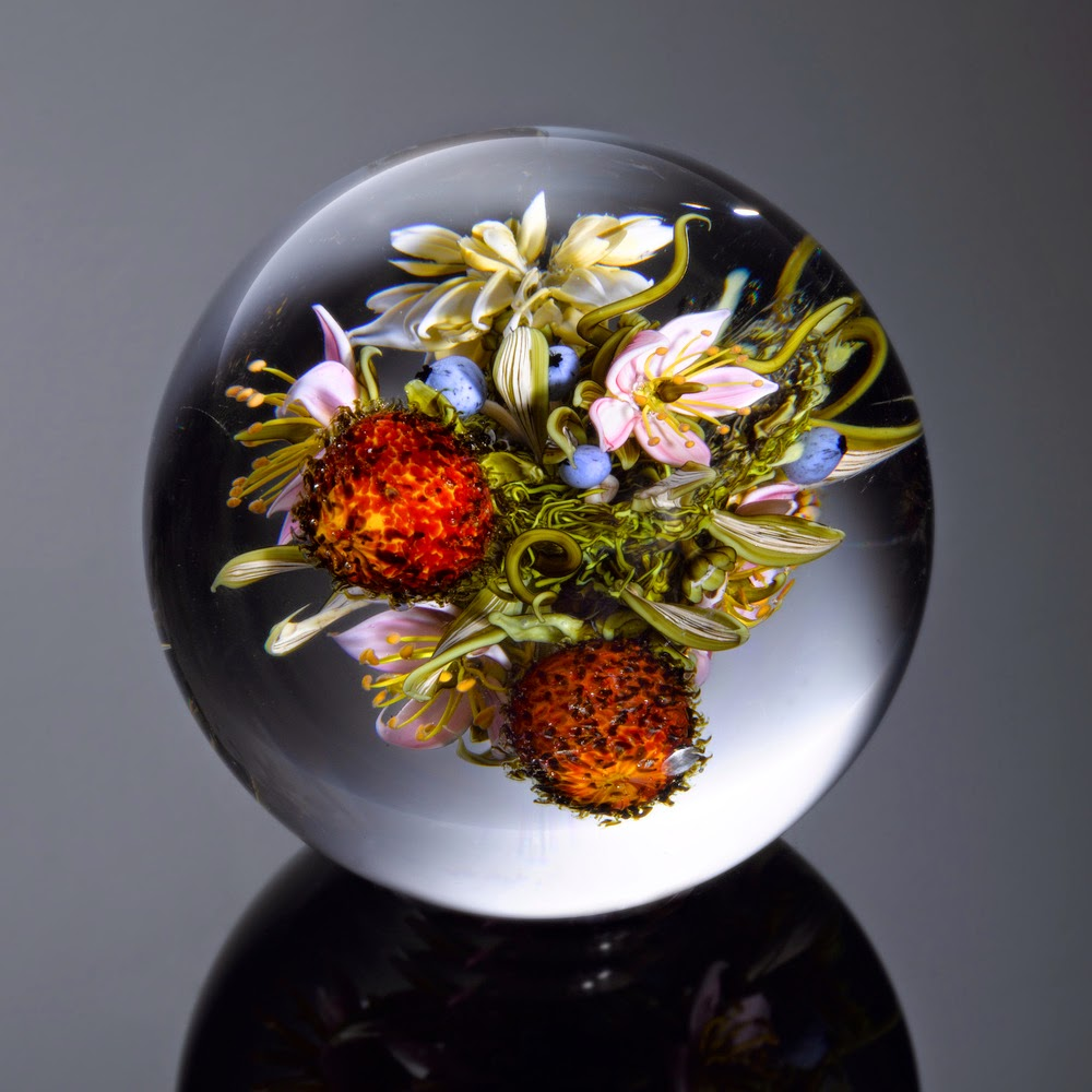 05-Floral-Bouquet-Fruit-Paul-J-Stankard-Nature-in-a-Sculptured-Glass-Orb-www-designstack-co