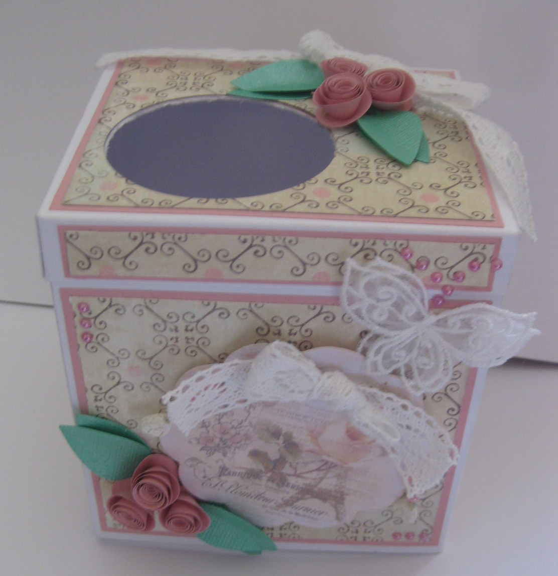 Crafts by sabrina tissue box cover for Tissue box cover craft