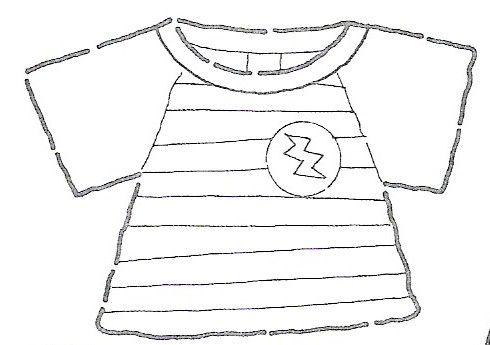Dibujos para colorear: Dibujos de camisetas para colorear