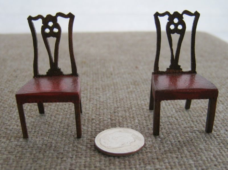 Pair Of Federal Ribbon Back Side Chairs. Chairs Are Constructed Of Solid  Mahogany With Painted Wood Seats. Chairs Measures Approx.