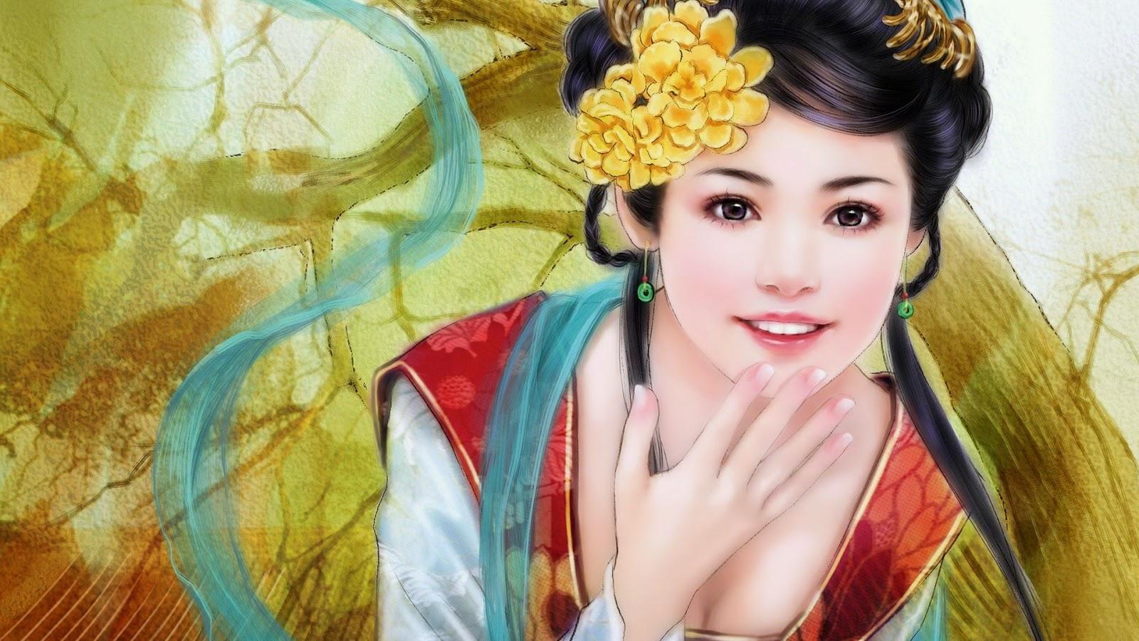japanese anime beautiful girl wallpaper - free wallpaper hd