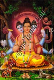 Dattatreya, the mendicant-teacher; 64 Modern calendar art