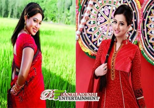 Film actress Shabnur and Purnima