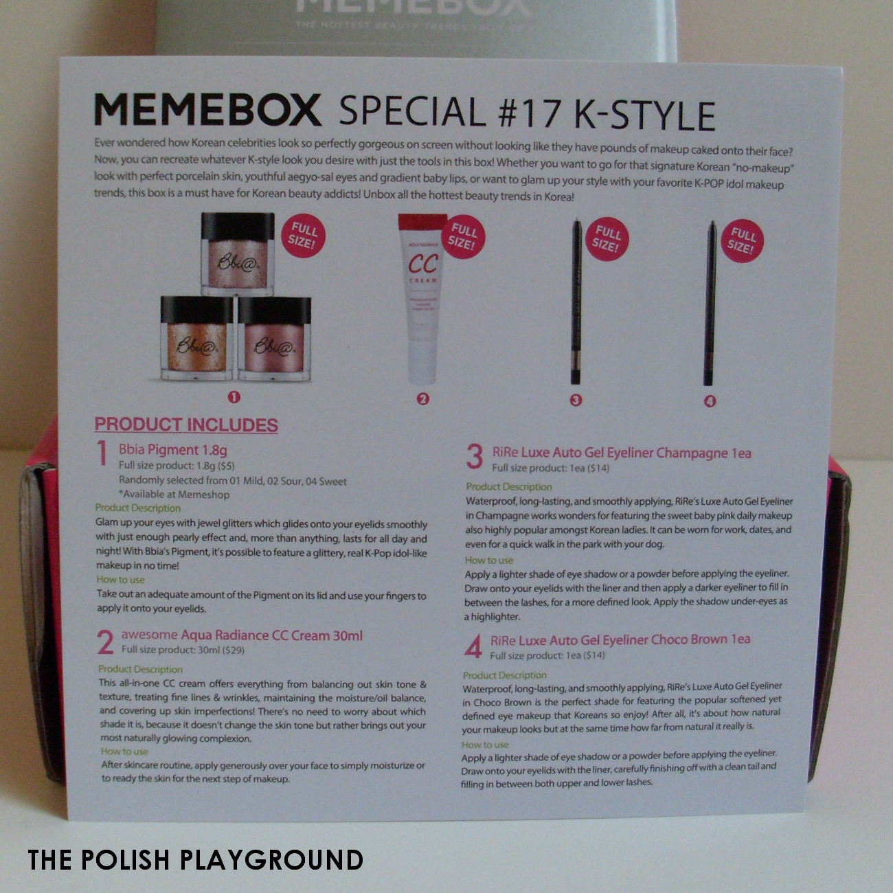 Memebox Special #17 K-Style Cosmetics Unboxing