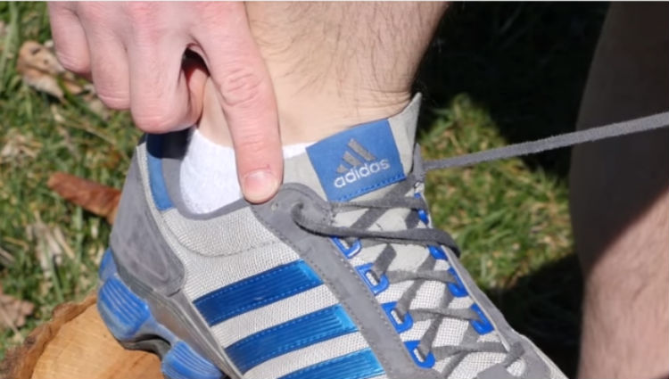 this is what that extra shoelace hole is used for i wish i knew this earlier   handy diy