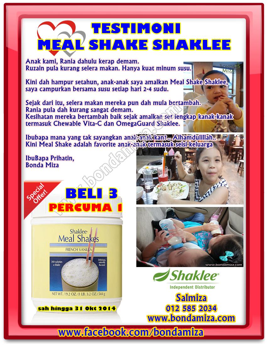 Shaklee Mealshake yang sedap lagi berkhasiat!!