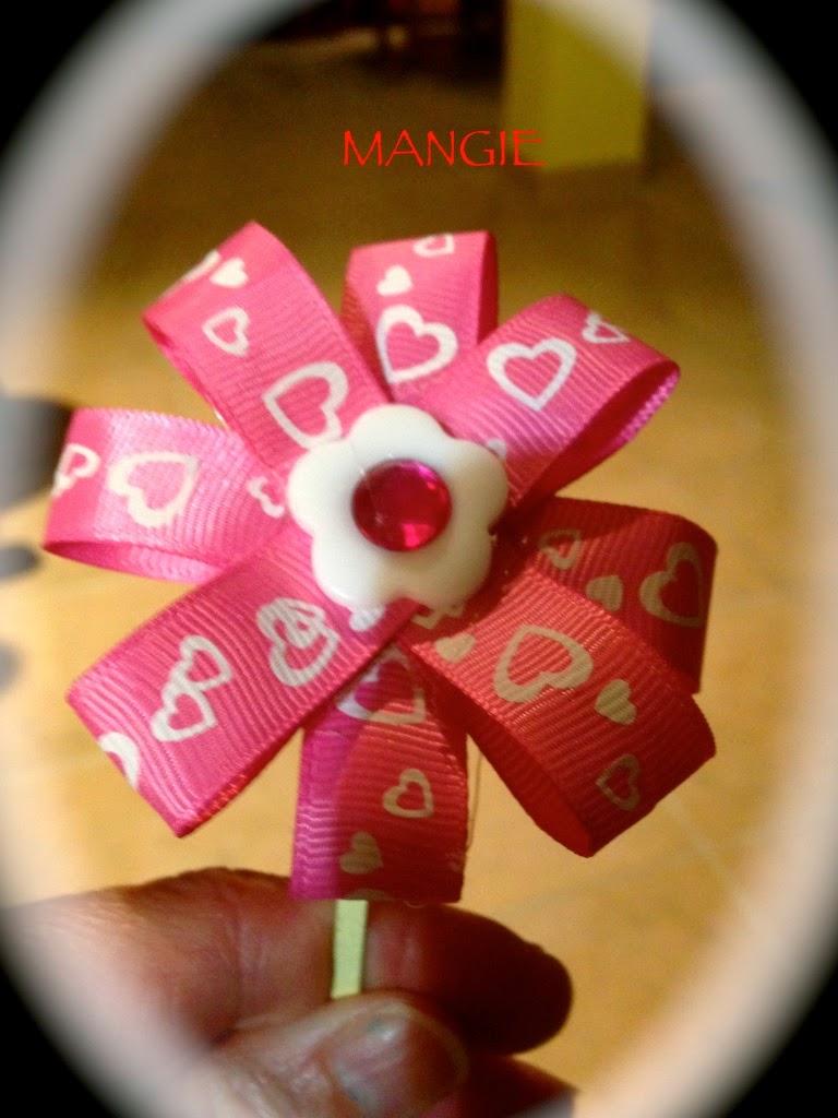 Diadema cinta, botón y brillante
