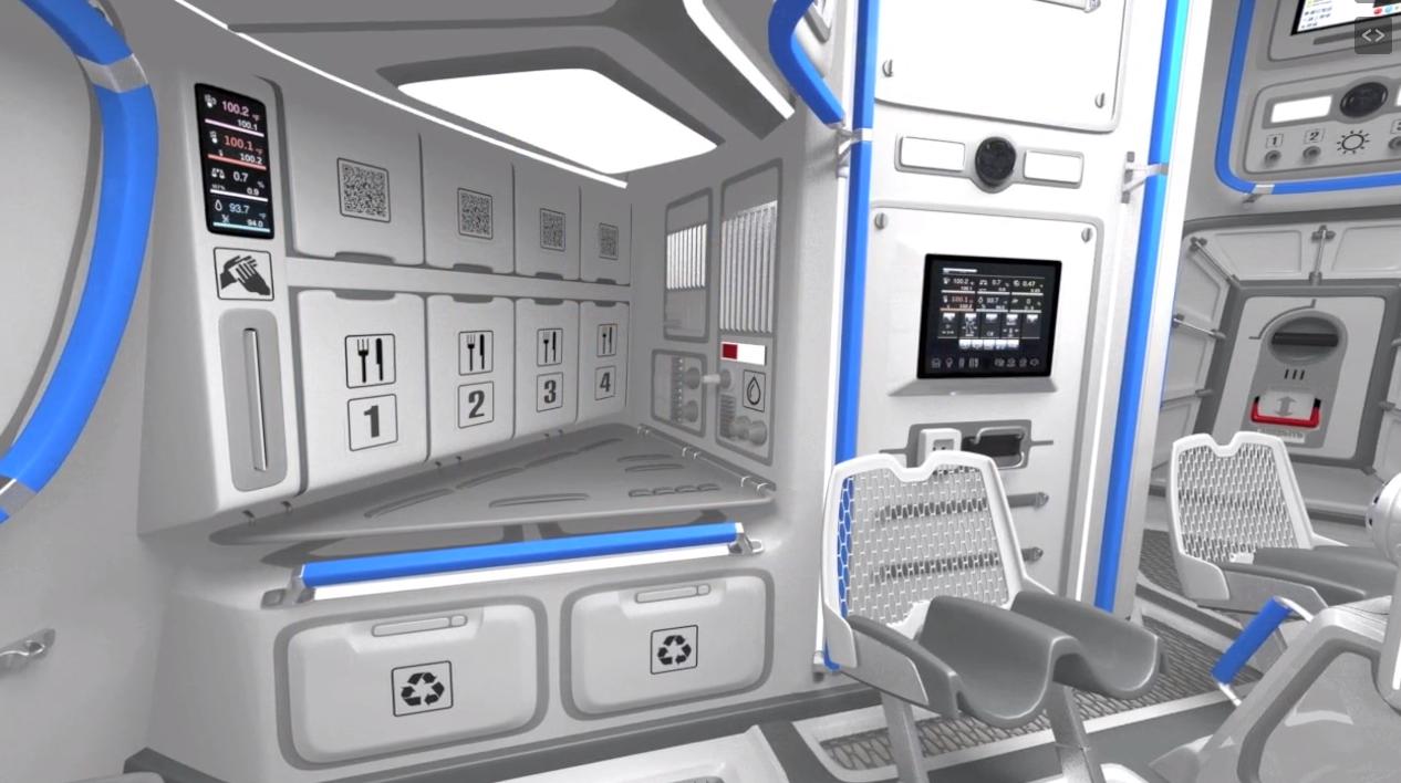 El Interior De La Nueva Nave Espacial Rusa Ptk Np