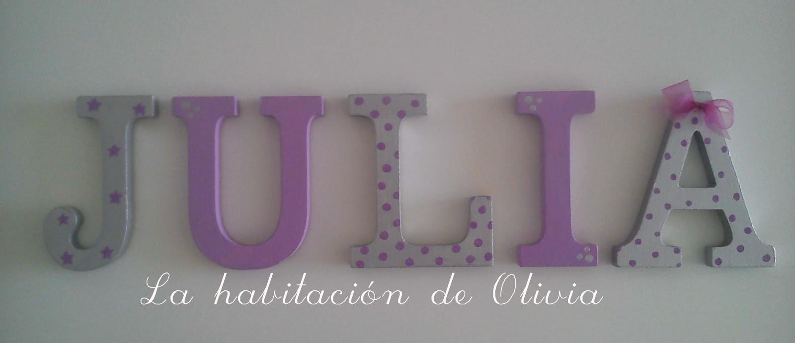 La habitaci n de olivia nuevas letras para un nuevo a o - Letras para pared ...