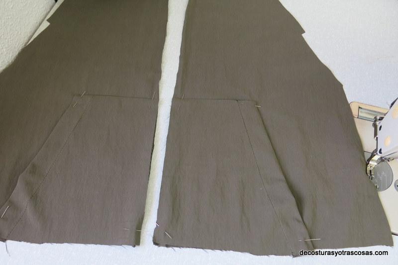 como coser bolsillos plastón