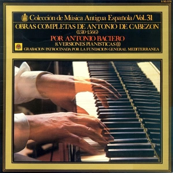 Versión pianística de la obra de Antonio de Cabezón