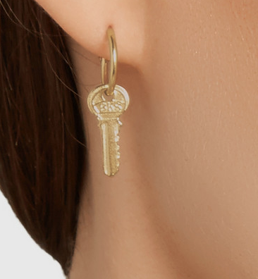 Wouters & Hendrix Jewelry gold-plated key earring SS 2015
