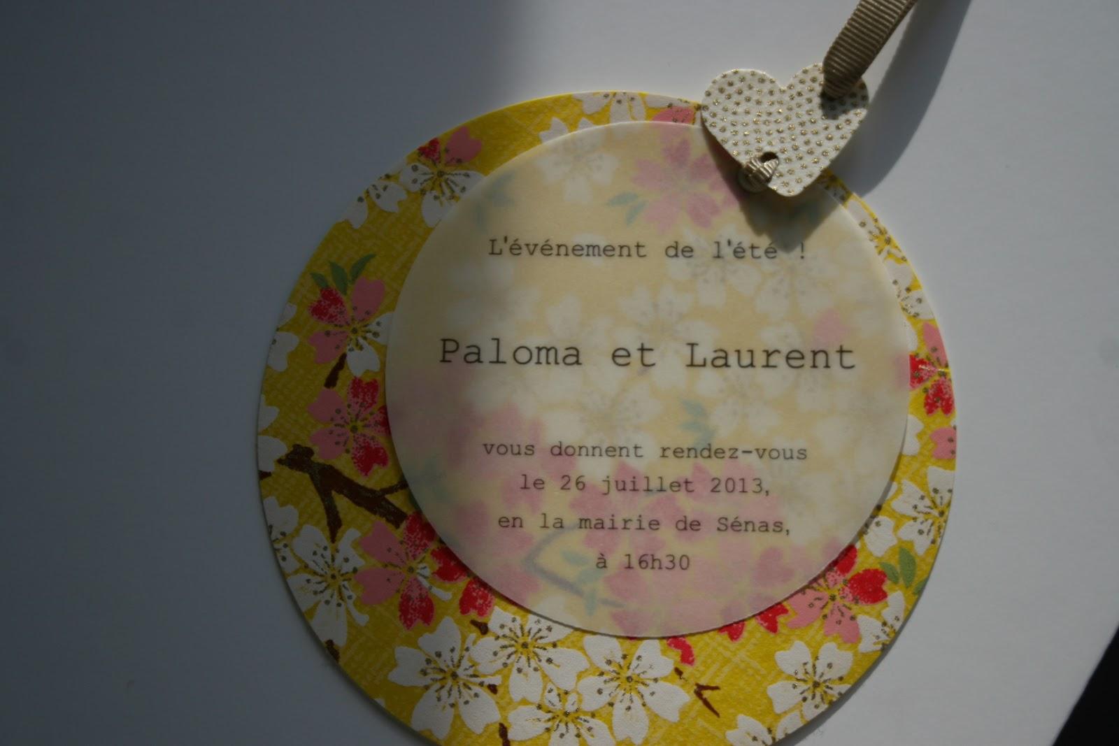 Turbo Fleur de pommier dans son atelier: Le faire-part Chic pour un  TW67