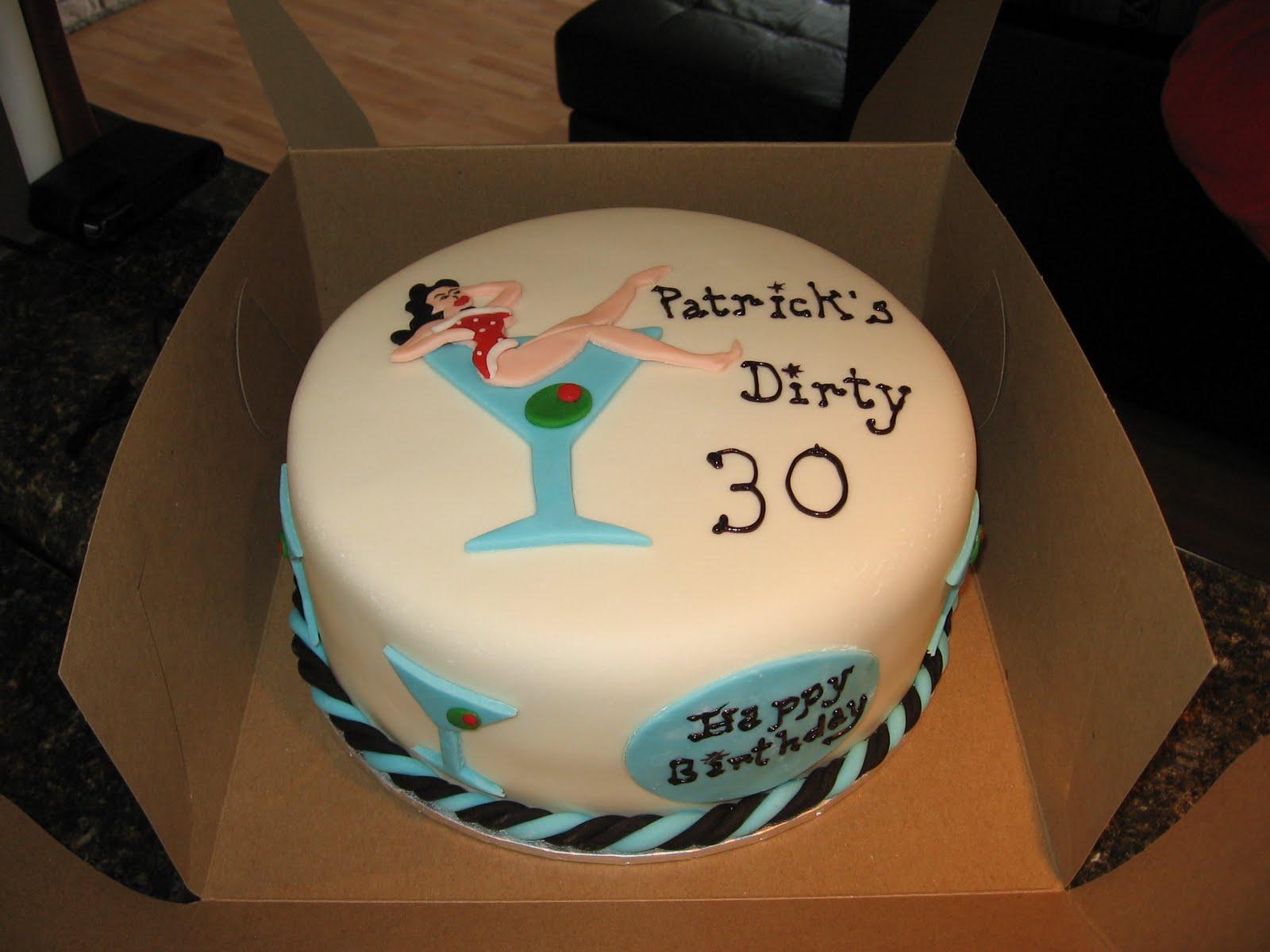 dirty thirty birthday cakes