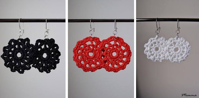 Pitsikorvakorut crocheted earrings