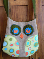 Owl Purse with Baby Owl Pocket