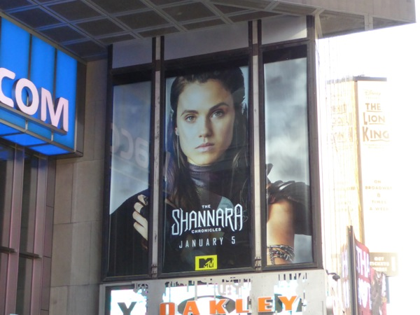 Shannara Chronicles series billboard NYC