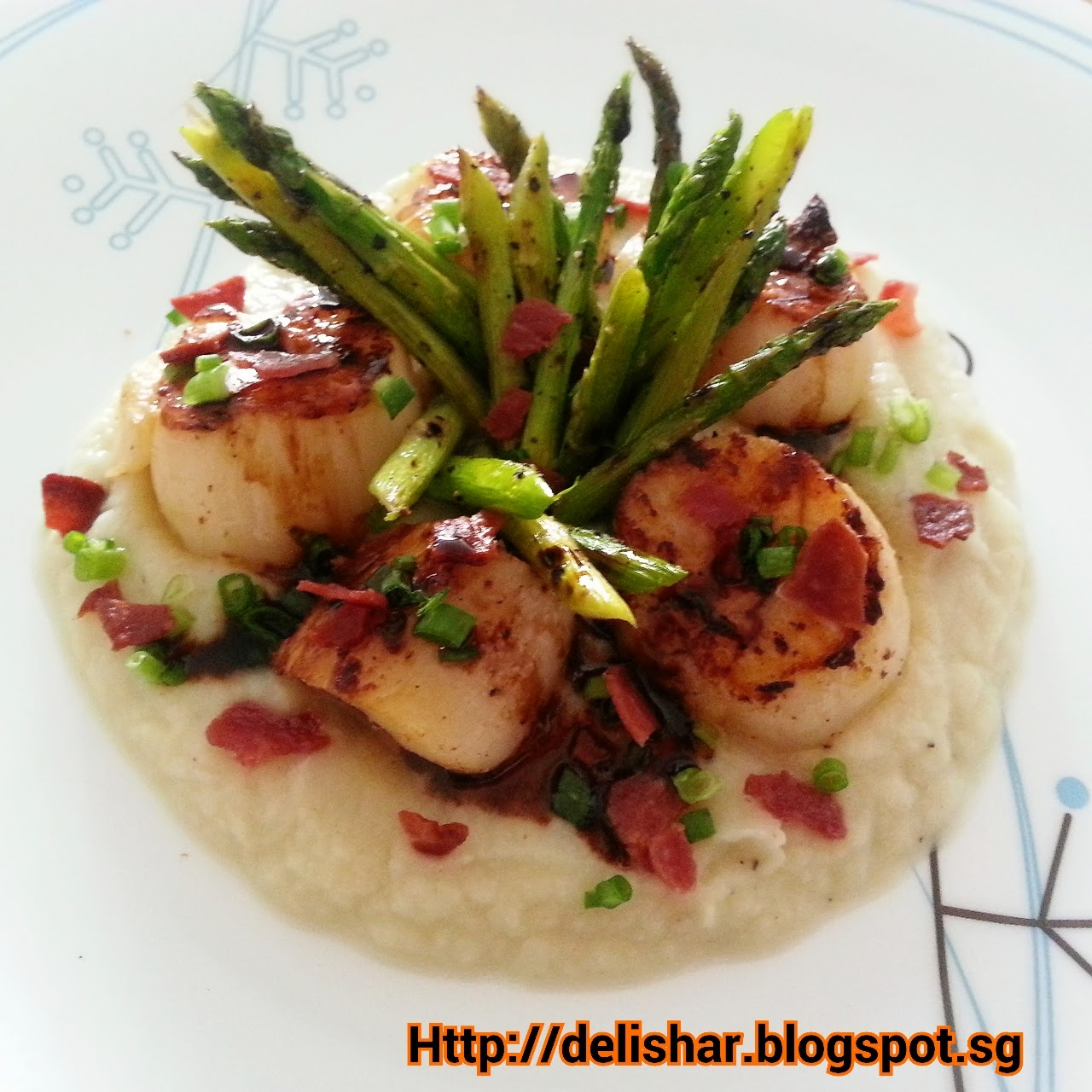 Pan-Seared Scallops With Asparagus And Baby Leeks Recipe ...