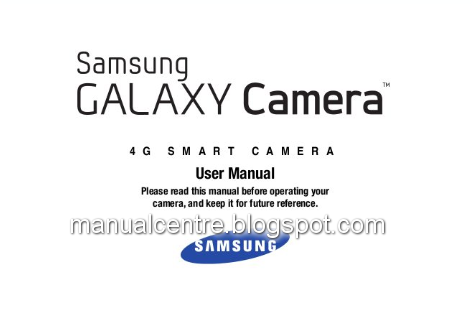 Samsung Galaxy Camera Manual