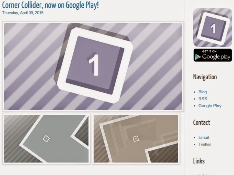 Corner Collider a game by my brother. Actual official pictures from Luke Lan Faust's blog.