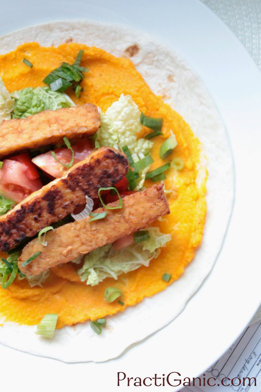 Smoked Tempeh & Spicy Carrot Wraps
