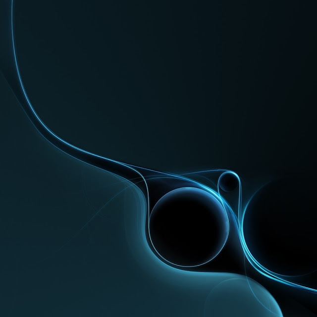iPad Wallpaper - Blue Abstract