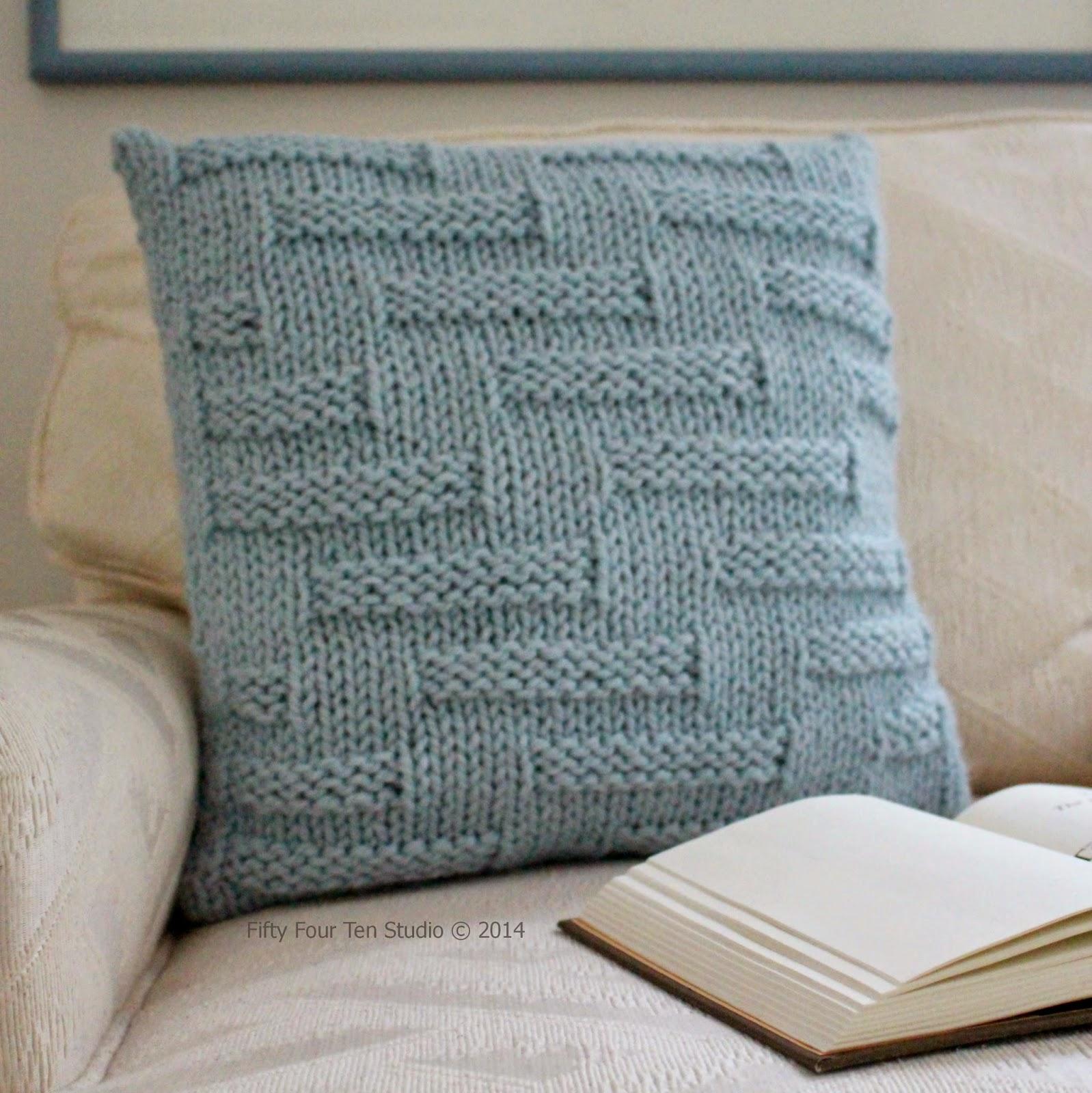 Pillow Knitting Pattern : Fifty Four Ten Studio:
