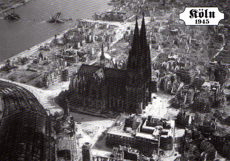 My postcrossing collection the cologne cathedral for Koln ww2