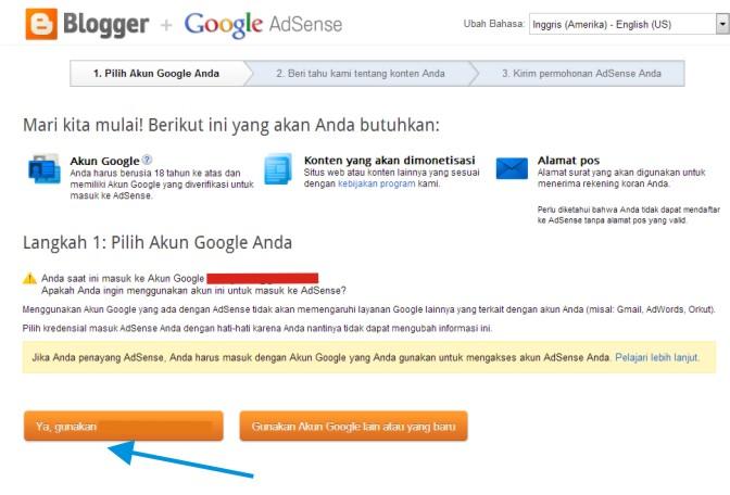 Cara Mendaftar Google Adsense Tahap 2