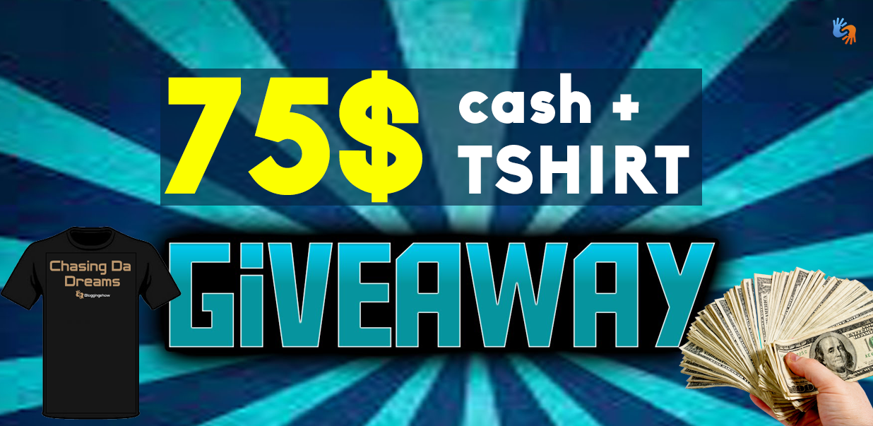 75$ Instant Cash + TShirt [Birthday GIVEAWAY]