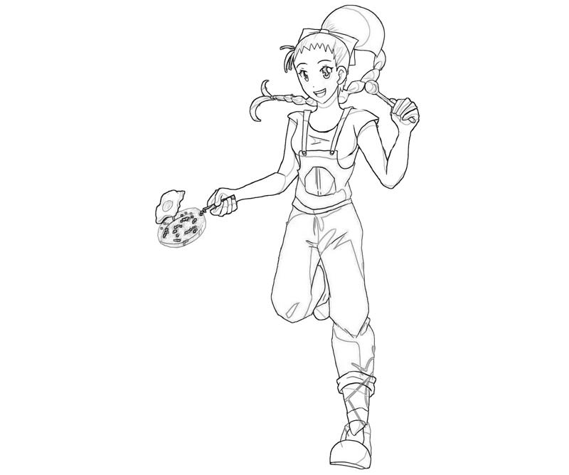 Harvest Moon Ann Fan Cooking Coloring Pages