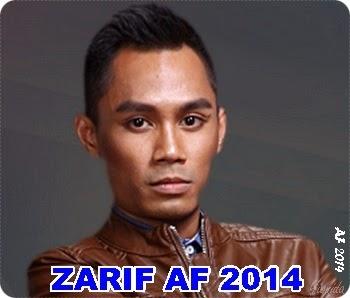 Biodata Zarif AF 2014, biodata peserta Akademi Fantasia 2014, profil Akademi Fantasia 2014, latar belakang peserta Akademi Fantasia 2014, gambar Zarif AF 2014