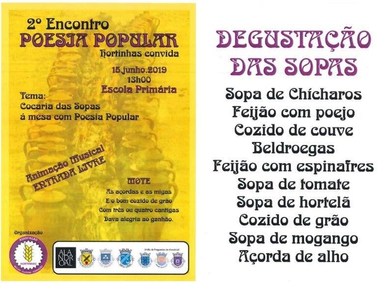 2º Encontro de Poesia Popular - Hortinhas convida - 15 de Junho de 2019.