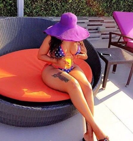 Big booty Model Vera Sidika Chilling in A Lagos Hotel, Flaunts Her Assets [VIEW MORE PHOTOS]