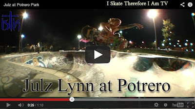 Julz Lynn skateboarding video